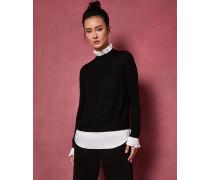 Pullover mit Falten Am Kragen
