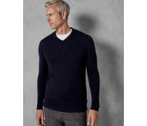 Tall-Wollpullover mit V-Ausschnitt