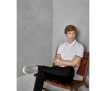 Baumwoll-Polohemd mit Print