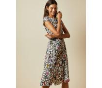 Kleid mit Wilderness-Print und Kurzen Ärmeln