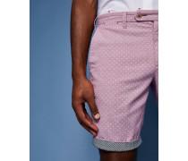 City-Shorts aus Baumwolle mit Punkte-Print