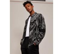 Bedruckte Jacke aus Leinen-Mix