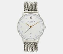Uhr mit Gliederarmband aus Metall