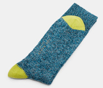 Strukturierte Socken aus Bio-Baumwoll-Mix