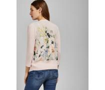 Wickel-Cardigan mit Elegant-Print Am Rücken