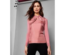 Pullover mit Seide und Oversized-Schleife