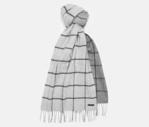 Großkarierter Schal mit Ombréverlauf