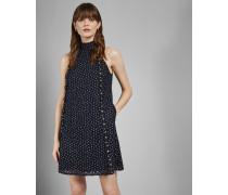 Neckholder-Kleid mit Floraler Spitze