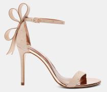 Sandalen mit Oversized-Schleife