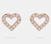 Kristall-Ohrringe in Herzform