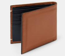 Aufklappbares Portemonnaie aus Fein Perforiertem Leder