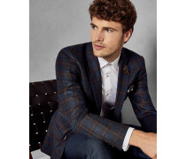 Karierte Anzugjacke aus Wolle
