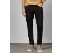 Schwarze Straight Fit-Jeans
