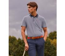 Golf-Polohemd mit Mini-Geo-Print
