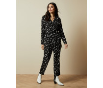 Jumpsuit in Wickeloptik mit Polka-Dots