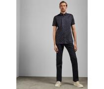 Tall-Baumwollhemd mit Vogel-Print