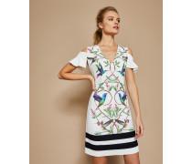 Schulterfreies Tunikakleid mit Highgrove-Print