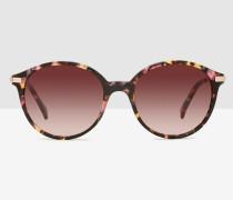Metallsonnenbrille mit Rundem Rahmen