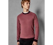 Baumwoll-Pullover mit Gestreiften ärmeln