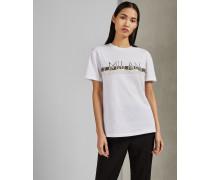 Baumwoll-T-Shirt mit Mailand-Logo