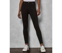Stretch-Jeans mit Zip-Detail