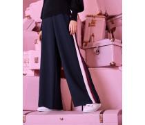 Hose mit Weitem Bein und Ripsband