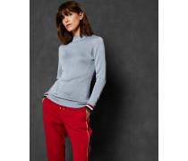 Gestreifter Lurex-Pullover aus Rippstrick