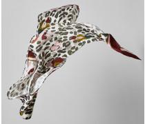 Schmaler Seidenschal mit Leoparden-Print