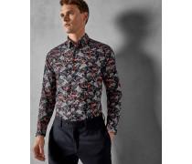 Hemd mit Floralem Muster