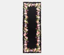 Langer Seidenschal mit Peach Blossom-Print