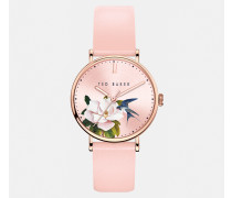 Opal Dial Leather Strap Watch