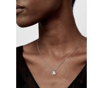 Halskette Verziert mit Blüte in Herzform