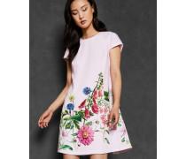 Ausgestelltes Kleid mit Florence-Print