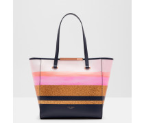 Glitter Stripe Large Shopper