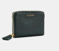 Kleines Leder-Portemonnaie mit Zierquaste