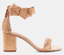 Sandalen Mit Schleife Und Blockabsatz