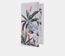 Reise-Portemonnaie aus Leder mit Pistachio-Print