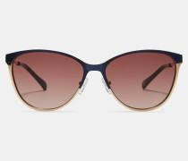 Metall-Sonnenbrille mit Blockfarben-Design