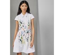 Kleid mit Wellenborten und Elegant-Print