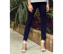 Bestickte Baumwoll-Jeans