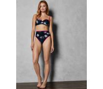 Bikinihose mit Hohem Bund und Wonderland-Print