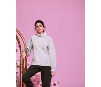 Gerüschter Sweater mit Champagne-Logo