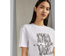 Baumwoll-T-Shirt mit New York-Logo