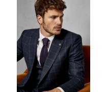 Schmale, Karierte Debonair-Anzugjacke aus Wolle