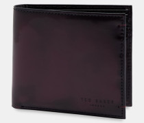 Aufklappbares Portemonnaie aus Poliertem Leder