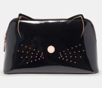 Make-Up-Tasche mit Katzenverzierung