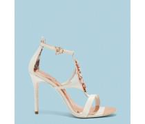 Satin-sandalen Mit Verziertem Riemen