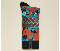 Socken mit Blumenprint