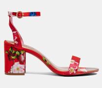 Sandalen mit Bedrucktem Blockabsatz