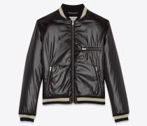 College-Jacke aus lackiertem Nylon mit 3 Taschen